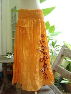 Nothing to Worry Long Skirt - Soft Orange2 by fantasyclothes on Etsy https://www.etsy.com/listing/150242595/nothing-to-worry-long-skirt-soft-orange2