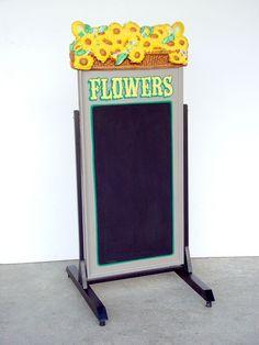 Pop Art Decoration - Restaurants & Commercial - Menus & Chalkboards - Swing Plate Chalkboard Menu Flower