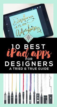 10 Best iPad Apps for Designers / online presence / designers / iPad pro Graphic Design Tips, App Design, Design Apps For Ipad, Ipad Pro Tips, Ipad Kunst, Adobe Illustrator, Ipad Apps, App Drawings, Do It Yourself Design