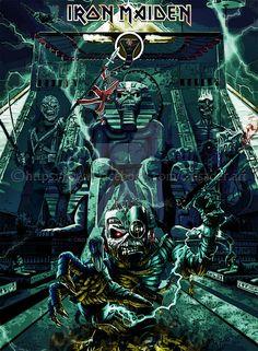Iron Maiden By Croatian Crusader On DeviantArt, Iron Maiden Eddie Art Gallery Rock Posters, Band Posters, Concert Posters, Iron Maiden Band, Eddie Iron Maiden, Heavy Metal Rock, Heavy Metal Bands, Power Metal, Metal Viking