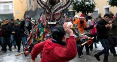 This Spanish Town Pelts A Monster With Turnips During The Jarramplas Festival - http://all-that-is-interesting.com/jarramplas-turnip-festival?utm_source=Pinterest&utm_medium=social&utm_campaign=twitter_snap