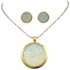 ea969a06b9c05 GOKADIMA Gold Color Stainless Steel Necklace Set Pendant Earrings Women  Jewelry Set 2016 Party Gift Big Stone Jewellery WTS206-in Jewelry Sets from  Jewelry ...