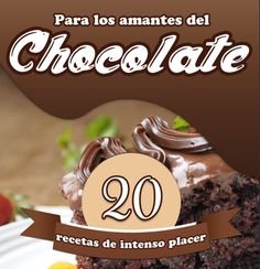 """Find magazines, catalogs and publications about """"recetas"""", and discover more great content on issuu. Cocinas Chocolate, Spanish Food, How To Make Chocolate, Disney Food, Sweet Cakes, Chocolate Lovers, Sin Gluten, Good Food, Tasty"""