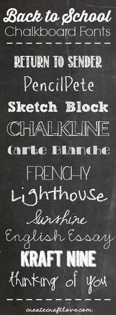 Back to School Chalkboard Fonts | Create Craft Love