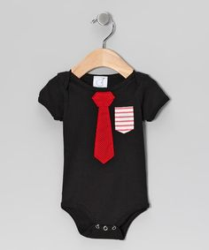 Take a look at this Black Business Time Bodysuit by Ana Apple on #zulily today!
