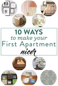 10 Ways to Make Your First Apartment Nicer First Apartment, Apartment Living, Apartment Ideas, Movin Out, Old Apartments, Cute House, Loft Style, E 10, How To Look Better