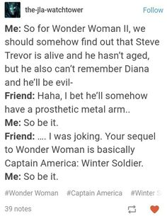 There is actually a WonderTrev fanfic with a Winter Soldier premise
