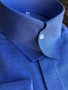 """""""If Unique Is What You Seek""""  MorCouture Casanova Blue.. www.MorCouture.com Bespoke Clothing, Mens Clothing Styles, Casual Wedding Suit, Grey Suit Men, African Dresses Men, Formal Men Outfit, Mens Designer Shirts, Tailored Shirts, Collar Designs"""