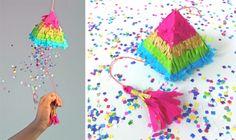 cinco de mayo how to make a pinata rainbow colors