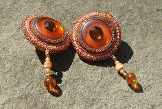Amber Light Clip Earrings by LisaPierceJewelry on Etsy, $95.00