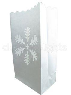 Flame Resistant Luminaria Wedding Christmas CleverDelights Blue Luminary Bags 30 Pk Sunburst