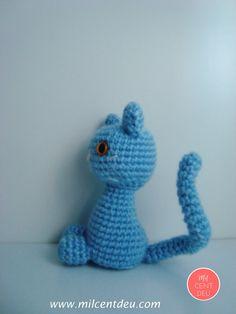 El gato azul amigurumi.