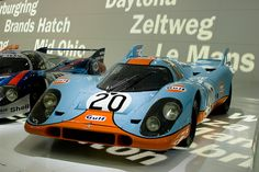 Porsche 917 in Gulf racing colours