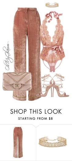 """""""Pink Velvet"""" by maria-barragan on Polyvore featuring moda, Alberta Ferretti, Forever 21, Chanel y Dsquared2"""