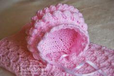 Baby Bonnet free crochet patterns Pink crochet baby bonnet pattern