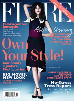 Alexa Chung on the cover of Flare Magazine