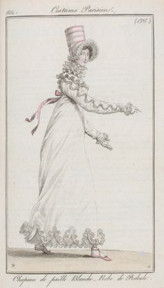 Three layered ruff 1814 Costume parisien. (zoom in for very large detailed image)