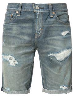 LEVI'S ripped denim shorts. #levis #cloth #shorts