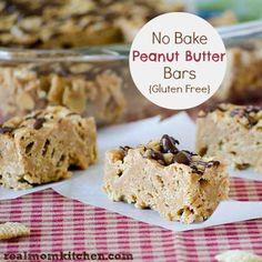 No Bake Peanut Butter Bars {Gluten Free} Recipe on Yummly