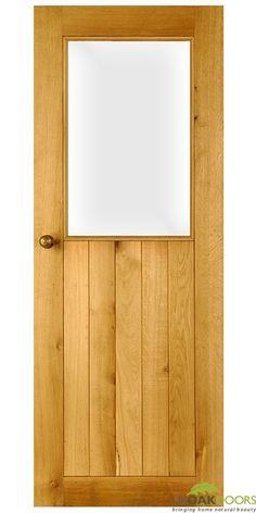 Half glazed suffolk door - glass and solid oak Half Glass Interior Door, Door Design, House Design, Solid Oak Doors, Door Displays, Door Accessories, Kitchen Doors, Room Doors, Internal Doors
