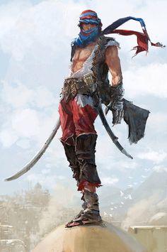 ArtStation - Prince of Persia Fan art, Kobe Sek Fantasy Character Design, Character Design Inspiration, Character Concept, Character Art, Dungeons And Dragons Characters, Dnd Characters, Fantasy Characters, Prince Of Persia, Fantasy Warrior