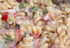 Zutaten 500 g Nudeln (Spirelli) 2 Pck. Feta-Käse 1 Salatgurke(n) 6 Tomate(n) 1 Paprikaschote(n), rot 1 Dose Mais Ring/e … No Salt Recipes, Top Recipes, Veggie Recipes, Salad Recipes, Cooking Recipes, Macaroni Salad, Pasta Salad, Sweet And Salty, Food 52