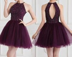Short Prom Dress, Purple Prom Gown with Beaded, Prom Party Dress, Party Gowns, Homecoming Dress – ………★… Homecoming Dresses………. Grad Dresses Short, Cute Homecoming Dresses, Hoco Dresses, Prom Party Dresses, Party Gowns, Pretty Dresses, Sexy Dresses, Formal Dresses, Short Prom