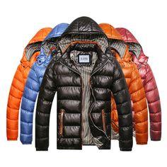 Sale 17% (35.99$) -  Mens Winter Thick Warm Waterproof Windproof Hood Removable Jackets Fashion Zipper Coat