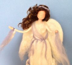 Needle Felted Angel Tree Topper Custom by ClaudiaMarieFelt on Etsy