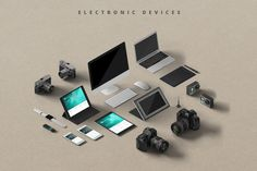 #Mockupper: Isometric view #4K - 100+ High resolution quality #mockup objects scene generator which will help you to create images, Product #promo, #Identity, Hero images, etc - #Electronic #devices (#Apple #iPhone, iPad, iMac, Macbook Air; Wacom Intous, photo cameras) - Package (corporate blanks, visit cards, envelopes, notepads, organizers, journals, catalogs etc.) - Paper (corporate blanks, visit cards, envelopes, notepads, organizers, journals, catalogs etc.) - Stationery & Miscellaneous