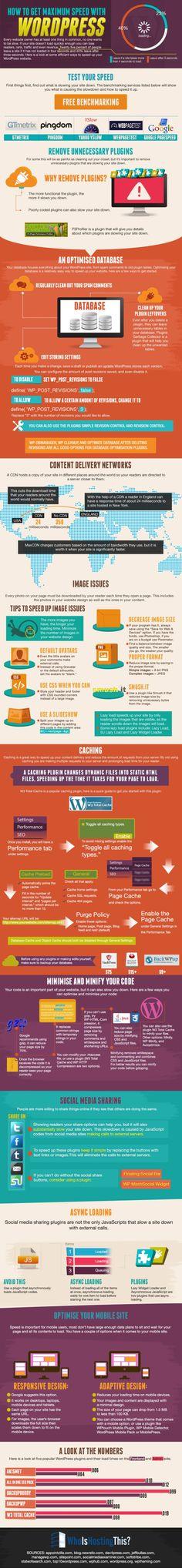 How to Get Maximum Speed with #WordPress #infografía