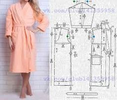 Need Some Sewing Patterns? Clone Your Clothes - Sewing Method Sewing Coat, Sewing Pants, Sewing Clothes, Pajama Pattern, Kimono Pattern, Dress Sewing Patterns, Clothing Patterns, Diy Dress, Shirt Dress