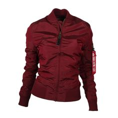 ALPHA Industries MA-1 TT Wmn Women Jacke Burgundy