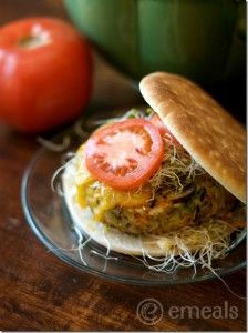 A Very Veggie Burger Recipe and more veg burger recipes on MyNaturalFamily.com #recipe #vegan