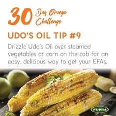Day 30 of the #30DayOmegaChallenge: It's the last day of our challenge! Did you know Udo's Oil can be drizzled over top of steamed veggies to add a delicious nutty buttery taste as well as that omega hit that your body is craving!? Comment on our fb post to enter to win a bottle of Udo's Oil and you'll also be entered into our grand prize Vitamix giveaway which will take place tomorrow! #omegas #giveaway http://ift.tt/2aeOYmV