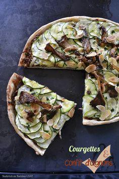 Dégustation pizza recette végétarienne aux courgettes et confit oignons pour Culino Versions - Kaderick en Kuizinn©