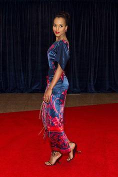 Louis Vuitton Spring 2011 RTW Floral Printed Satin Dress, Louis Vuitton Spring 2011 RTW Wedges & Louis Vuitton Minaudière Trésor Clutch