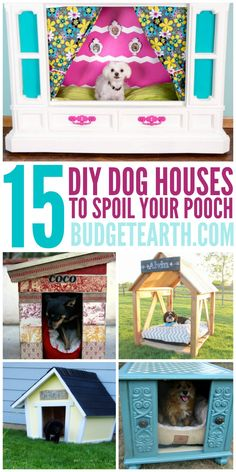 Are you thinking of building a dog house? Check out these 15 DIY Dog Houses perfect for any pooch here! Dog Training Harness, Potty Training, Training Tips, Build A Dog House, Diy Dog Toys, Diy Dog Bed, Animal Projects, Diy Projects, Old Dogs