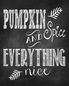 A Fall Treat for You -- FREE Chalkboard Print
