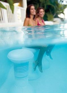 Swim up and take a seat on our Multicolor Light-up Pool Stool- perfect for parties, these unique in-pool barstools provide additional seating without taking up pool deck space.