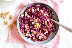 Dieser Rotkohl Birnen Salat mit Walnüssen ist mein absoluter Lieblings-Rohkostsalat.