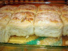 **7 Up Biscuits** 4 cps Bisquick (or gluten-free Bisquick) 1 cp sour cream 1 cp 7-up 1/2 cup melted butter (or 1/2 cup coconut oil)          Mix bisquick, sour cream and 7 up. Dough will be soft. Knead and fold dough until coated with your baking mix. Pat dough out and cut biscuits using a round biscuit / cookie cutter. Melt butter in bottom of cookie sheet pan or 9x13 casserole dish. Place biscuits on top of melted butter and bake for 12-15 minutes or until brown at 425 degrees,