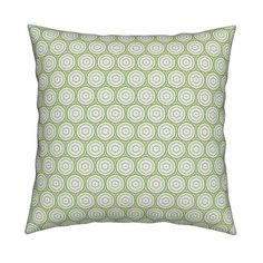 Catalan Throw Pillow featuring Sage Swirls by floramoon_designs | Roostery Home Decor