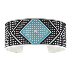 Cross Cut Turquoise Bead Chevron Medium Cuff Bracelet (BC2599D-BK) ($74) via Polyvore featuring jewelry, bracelets, cuff bangle, cross bangle, hinged cuff bracelet, chevron jewelry and beaded cuff bracelet