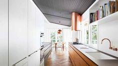 Copper exhaust fan & tapware. In my dreams!  Open-plan Renovation: Let There Be Light