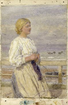 Knitting by the sea    Lionel Percy Smythe   Flickr - Photo Sharing!
