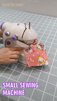 Overview: You and your family can get crafted with this Mini Sewing Machine. This is an appliance for small sewing projects. It is equipped with the double thr Small Sewing Projects, Sewing Projects For Beginners, Sewing Hacks, Sewing Crafts, Diy Projects, Sewing Tutorials, Sewing Patterns Free, Free Sewing, Fabric Patterns