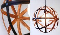 wood veneer pendant lighting