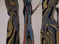Original Tree Painting by Andrea Jennings Abstract Canvas, Canvas Art, Painting Abstract, Tribal Tattoos, Saatchi Art, Original Paintings, Bronze, Artist, Products