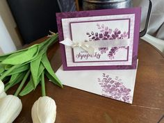 Sympathy Cards, Beautiful Hands, Hand Stamped, Stampin Up, Card Stock, Craft Supplies, Envelope, Card Making, Handmade
